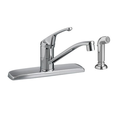 Colony Single Handle Centerset kitchenFaucet with Side Spray