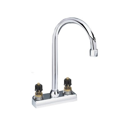 Amarilis Double Handle Centerset Bar Faucet with Less Handle and Gooseneck Swing Spout