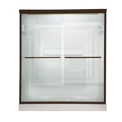 American Standard Euro Frameless Clear Sliding Shower Door