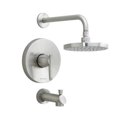 American Standard Green Tea Bath and Rain Showerhead Shower Trim Kit With Metal Diverter Spout