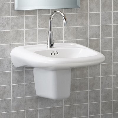 American Standard Murro Wall Mount Sink with Extra Right Hand Hole