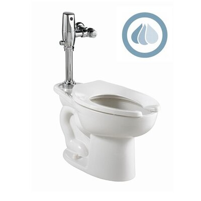 American Standard Madera 1.1 GPF / 1.6 GPF Elongated 1 Piece Toilet with Selectronic Dual Flush Flush Valve System