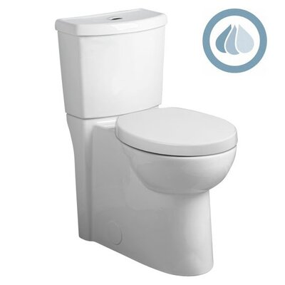 Studio Concealed Trapway Dual Flush Right Height 1.1 GPF / 1.6 GPF Elongated 2 Piece ...