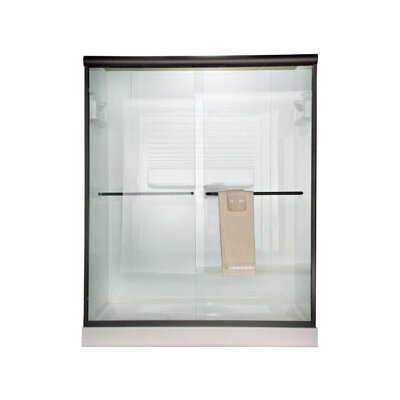 American Standard Euro Frameless Bypass Shower Door with Clear Glass
