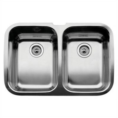"Blanco Supreme 32"" x 20.88"" Equal Double Bowl Undermount Kitchen Sink"