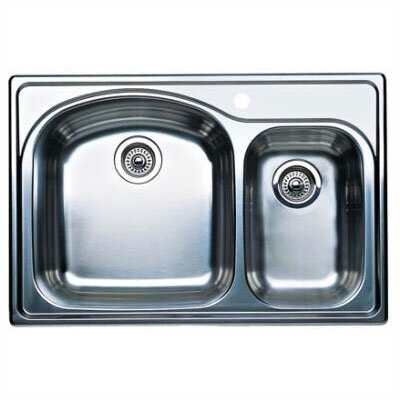"Blanco Wave Plus 33"" x 22"" Plus Bowl Drop-In Kitchen Sink"