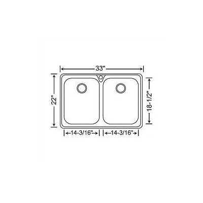 Blanco Supreme 2 Equal Double Bowl Drop-In Kitchen Sink