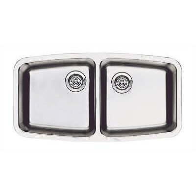 "Blanco Performa 33.1"" x 17.5"" Small Double Bowl Kitchen Sink"