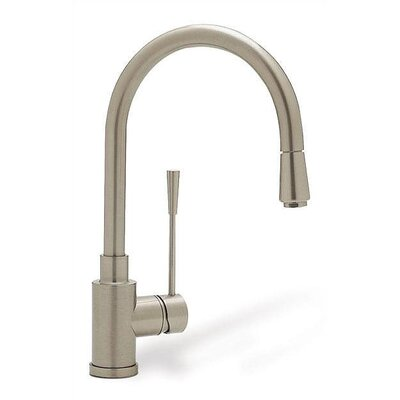 Kontrole Single Handle Single Hole Kitchen Faucet with Pull Down Spray