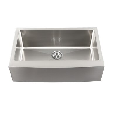 "Schon 33"" x 21.5"" Single Bowl Farmhouse Kitchen Sink"