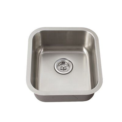 "Schon 16.19"" x 18"" Single Bowl Bar Sink"