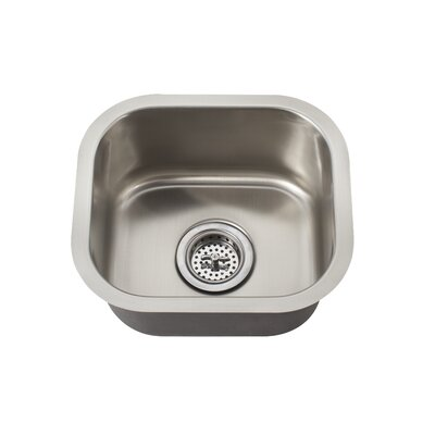 "Schon 14.625"" x 13"" Undermount Single Bowl Bar Sink"