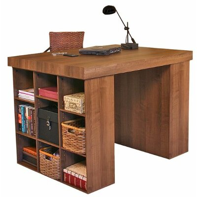"Venture Horizon Project Center 38.5"" H x 55"" W Desk with 2 Bookcases"