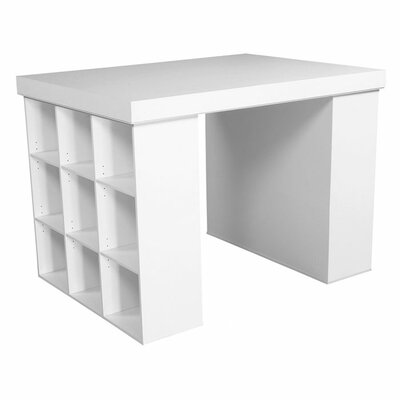"Project Center 38.5"" H x 55"" W Desk with 2 Bookcases"