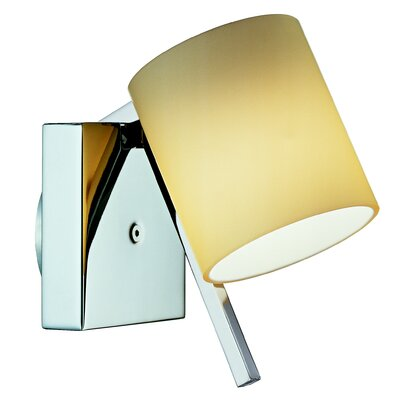 Studio Italia Design Minimania 1 Light Wall or Ceiling Fixture with Blown Glass Diffuser