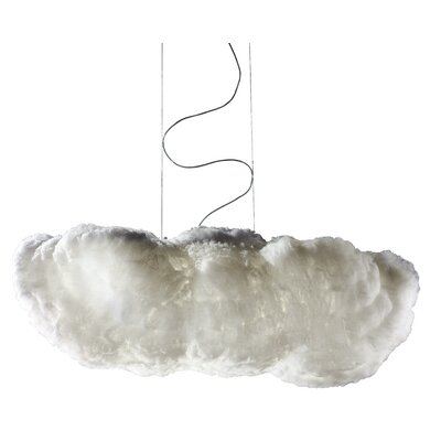 Studio Italia Design Nuvola 8 Light Oversize Luminous Cloud Pendant with Custom Fabric Diffuser and Inner Motor