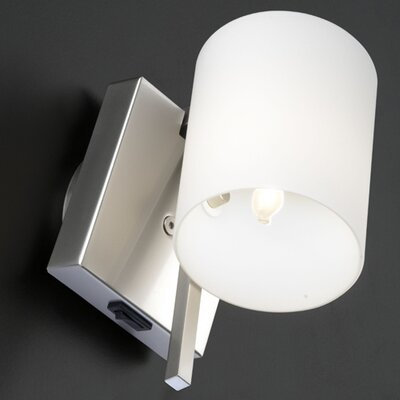 Wall Lighting Fixtures With On Off Switch : Minimania 1 Light Wall or Ceiling Fixture with Blown Glass Diffuser and On-Off Switch Wayfair
