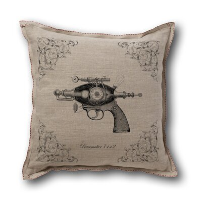 Museum of Robots Retro-Futuristic Artifacts Peacemaker Raygun Pillow Cover