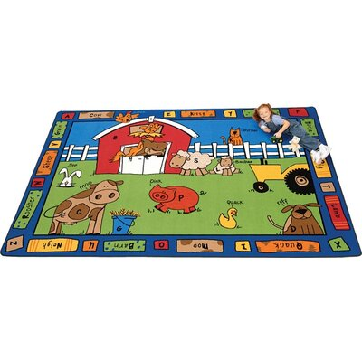 Carpets for Kids Literacy Alphabet Farm Kids Rug
