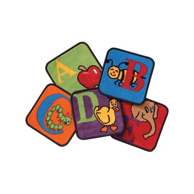 Carpets for Kids Reading by the Book Alphabet Rug Squares (Set of 26)