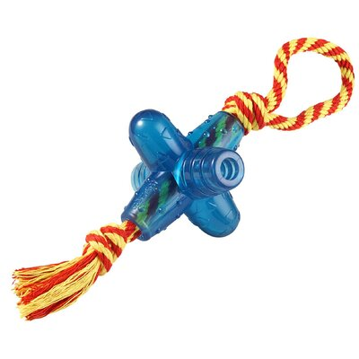 PetStages Orka Jack Chew Dog Toy with Rope in Multi Colored