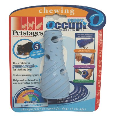 PetStages Occupi Puppy Treat Dispenser in Light Blue