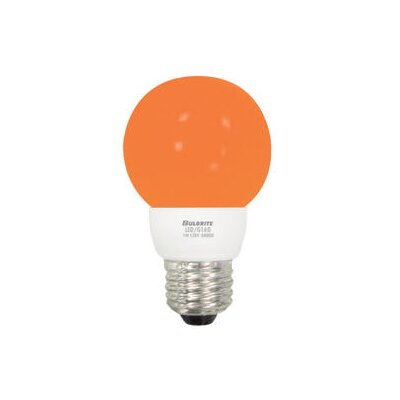 Bulbrite Industries 1W Amber 120-Volt LED Light Bulb
