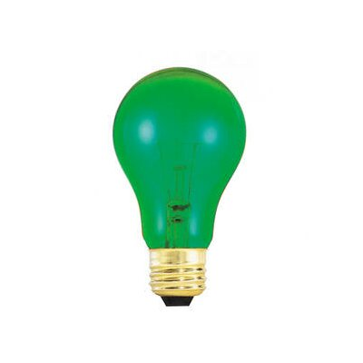 Bulbrite Industries 25W A19 Bulb in Transparent Green