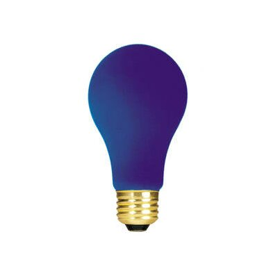 Bulbrite Industries 40W Ceramic A19 Incandescent Bulb in Blue