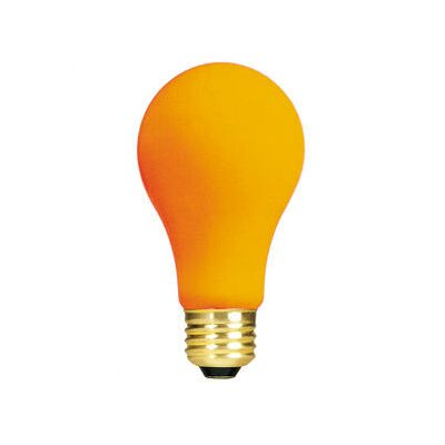 Bulbrite Industries 25W Ceramic A19 Incandescent Bulb in Orange