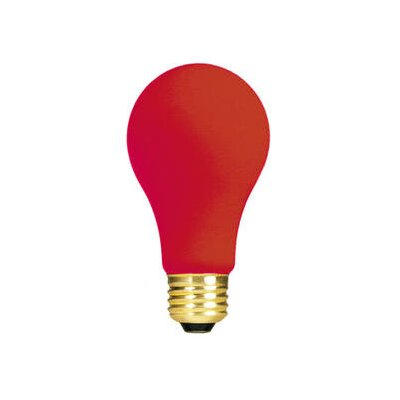 Bulbrite Industries 60W Ceramic A19 Incandescent Bulb in Red