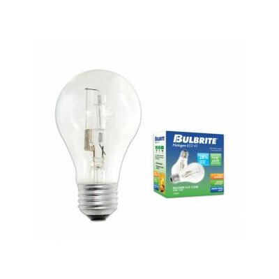 Bulbrite Industries 43W A19 Halogen Bulb in Clear (Pack of 2)