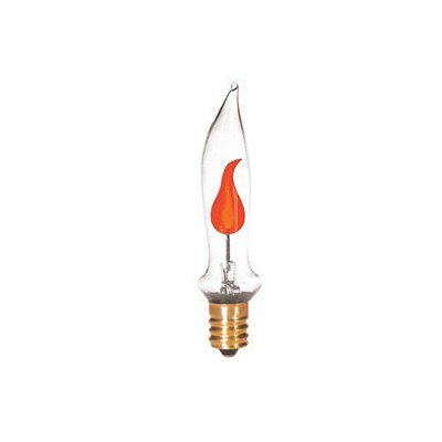 Bulbrite Industries 3W CA5 Flicker Flame Tip Chandelier Bulb