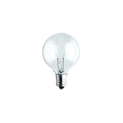 Bulbrite Industries 40W Krystal Touch G16 Globe Chandelier Bulb in Bright White