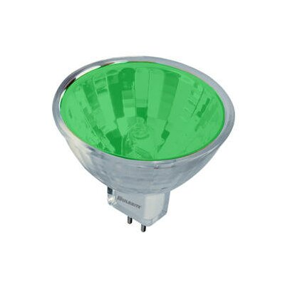 Bulbrite Industries 50W Bi-Pin MR16 Halogen Bulb in Green