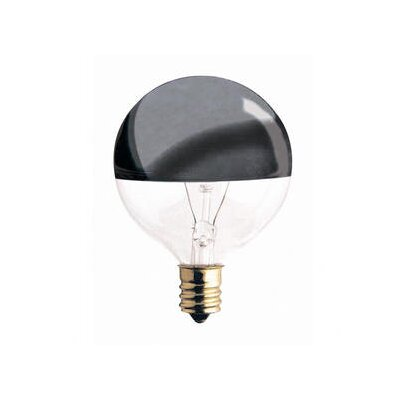 Bulbrite Industries 40W Half Chrome G25 Globe Shape Bulb