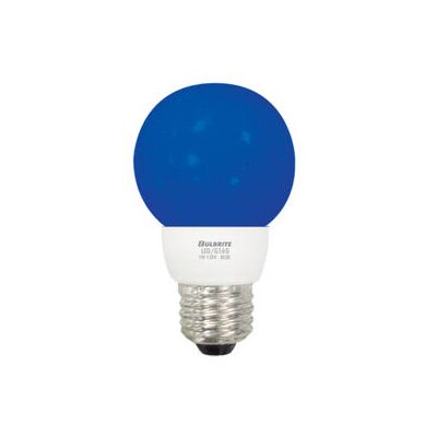Bulbrite Industries 1W LED Decorative G16 Globe Bulb in Blue