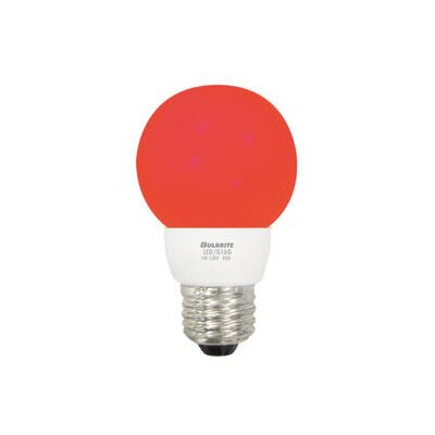 Bulbrite Industries 1W LED Decorative G16 Globe Bulb in Red