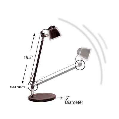 Bulbrite Industries MiniStryde LED Desk Lamp in Silver