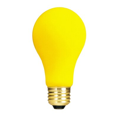 Bulbrite Industries 100W Long Life Standard Incandescent Bug Light in Yellow