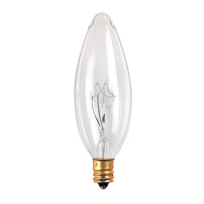 Bulbrite Industries 25mm 40W Incandescent Torpedo Chandelier Bulb in Clear