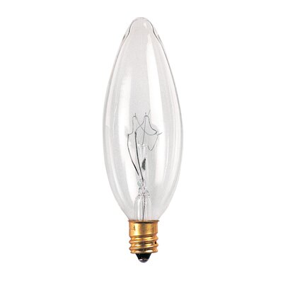 Bulbrite Industries E14 European Base High Voltage Incandescent Torpedo Chandelier Bulb