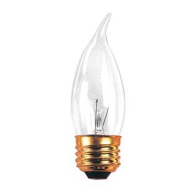 Bulbrite Industries 40W Incandescent Flame Tip Chandelier Bulb with E26 Base