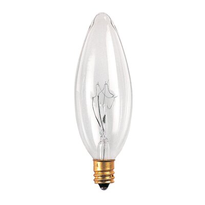 Bulbrite Industries 5W Incandescent Torpedo Chandelier Bulb in Clear