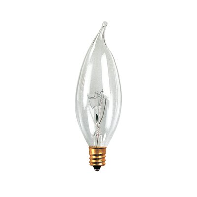Bulbrite Industries 32mm 60W Incandescent Flame Tip Chandelier Bulb in Clear