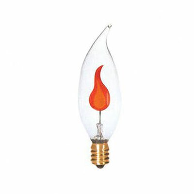Bulbrite Industries 3W Flame Tip CA10 Chandelier Bulb