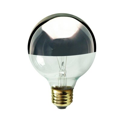 <strong>Bulbrite Industries</strong> 25W Half Chrome G16.5 Globe Shape Bulb