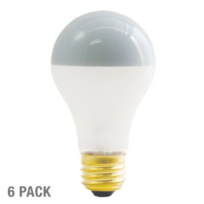 Bulbrite Industries Inside Frost Half Chrome 60W A Shape Incandescent Bulb