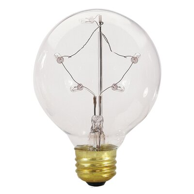 Bulbrite Industries E26 Medium Base Incandescent Starlight G25 Globe Bulb