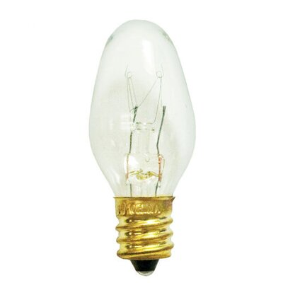 Bulbrite Industries 7W C7 Blinking Christmas Light in Clear Blinker